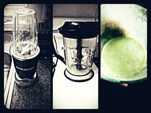 (PHOTO: Alan W. King) l-r: Nutri Bullet, Ninja blender, and my delicious Energy Elixir smoothie.